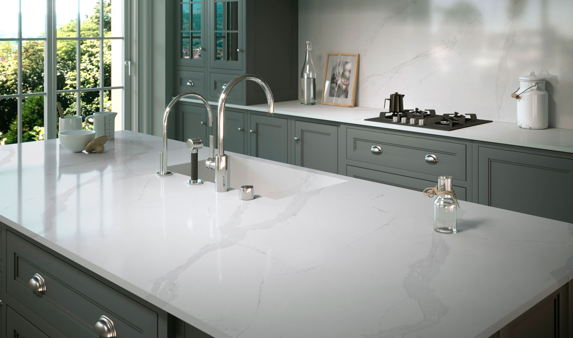 silestone bathroom countertops. Bianco Calacatta Silestone Bathroom Countertops B