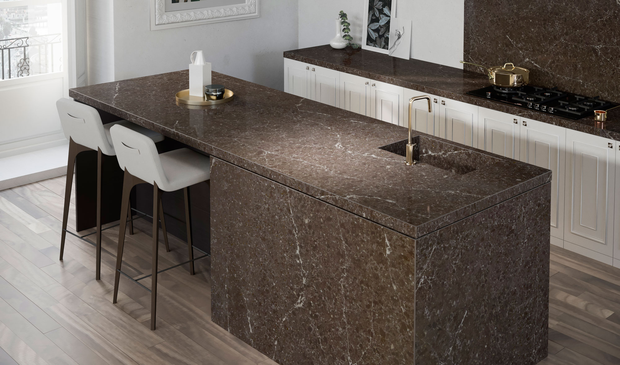 Silestone-Kitchen---Eternal-Emperador